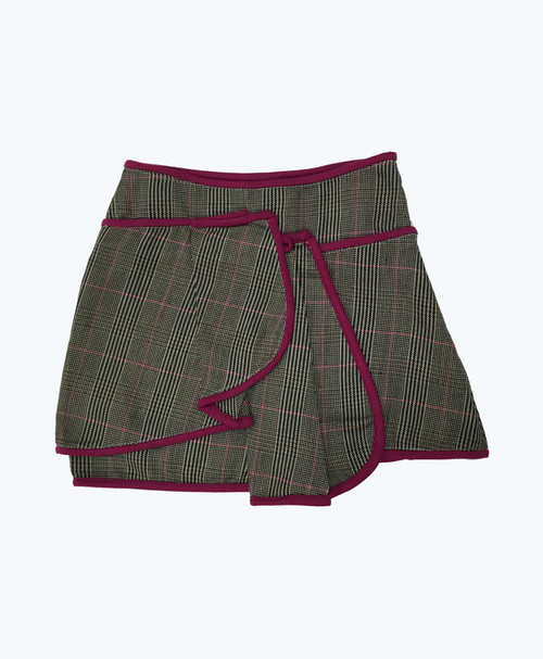 Purple Trim Tweed Skirt, Little Girls
