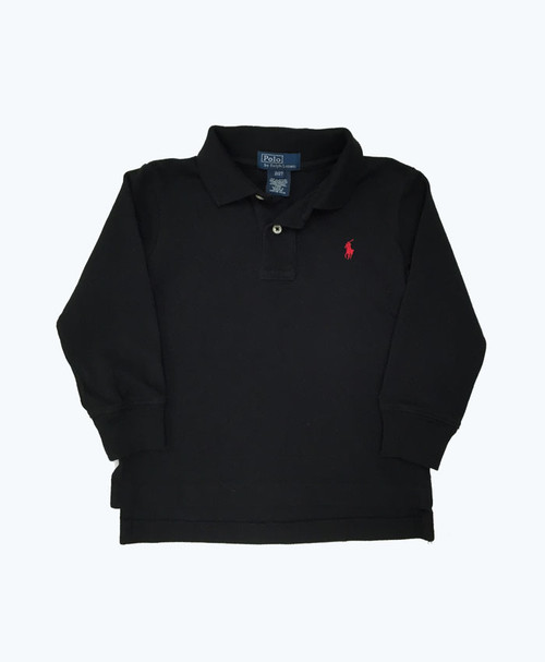 SOLD - Black Long Sleeve Polo Shirt