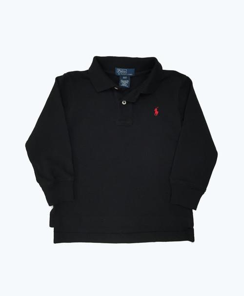 SOLD - Black Long Sleeve Polo Shirt