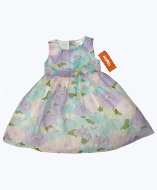 Pastel Floral Sleeveless Dress, Toddler Girls