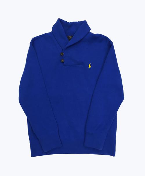 Shawl Collar Pullover Sweater, Little Boys