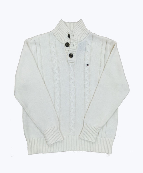 Off-White Pullover Sweater, Little Boys