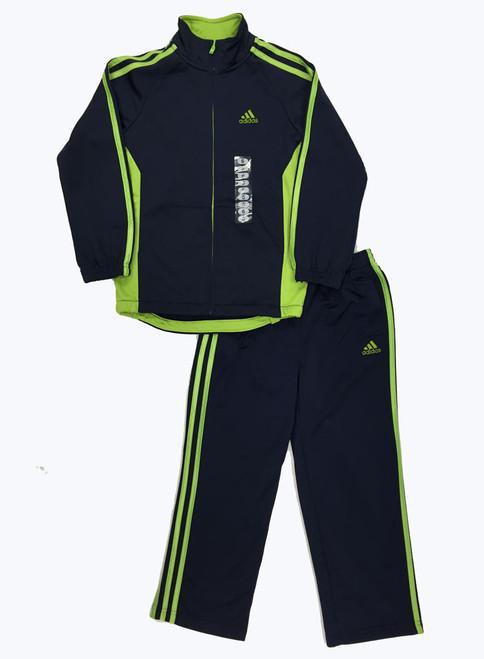 Navy Green Activewear Set, Little Boys