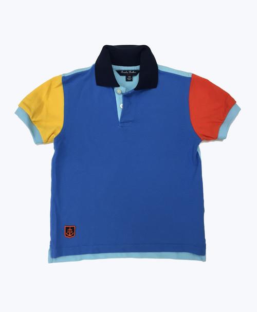 SOLD - Colorblock Pique Polo Shirt