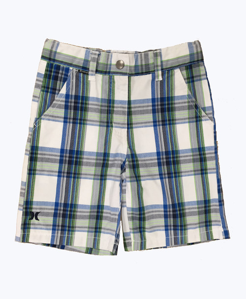Blue & Green Plaid Shorts, Little Boys
