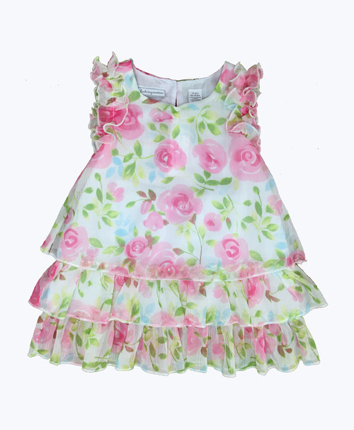 Pastel Floral Dress, Baby Girls