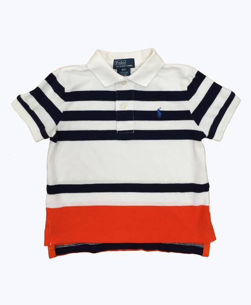 Striped Pique Polo Shirt, Todder Boys
