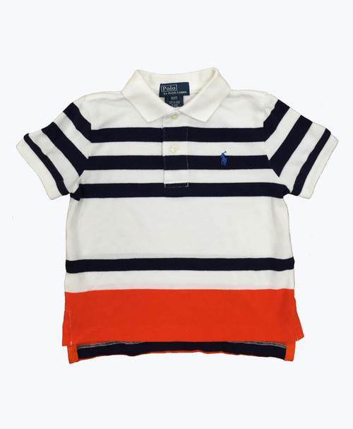 Striped Pique Polo Shirt, Todder Boys