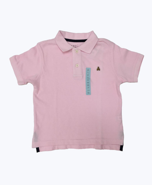 Pink Pique Polo Shirt, Little Boys