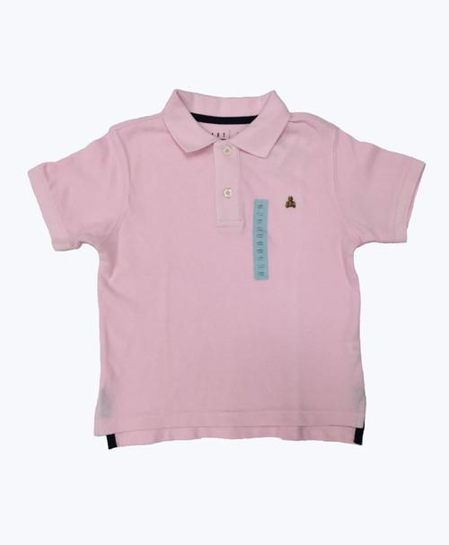 Pink Pique Polo Shirt, Little Boys