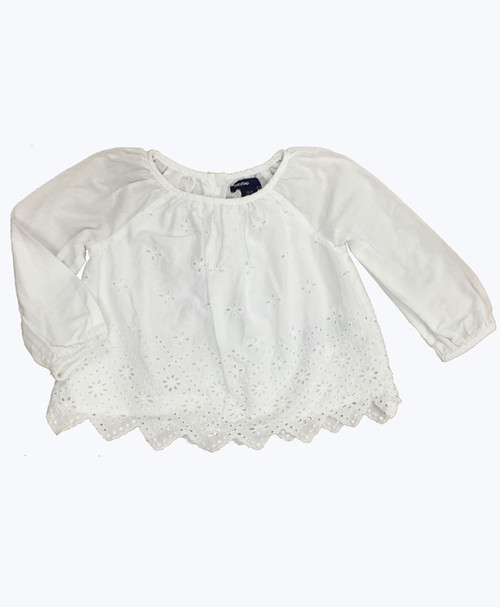 SOLD - White Eyelet Blouse