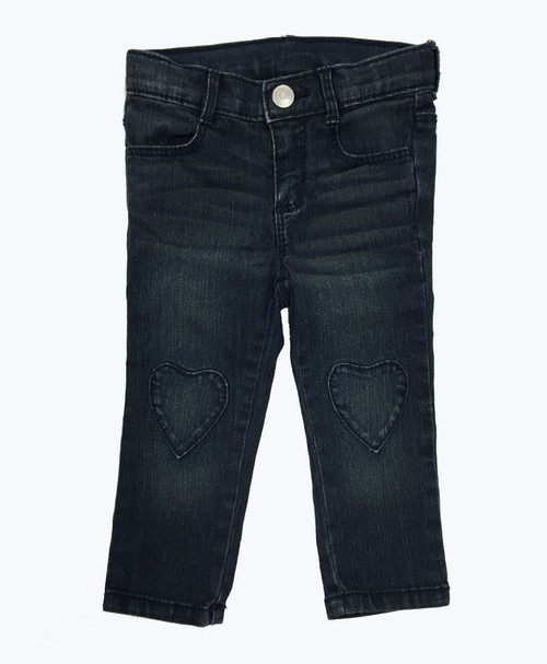 Heart Patch Denim Jeans