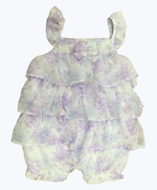 SOLD - Floral Chiffon Romper