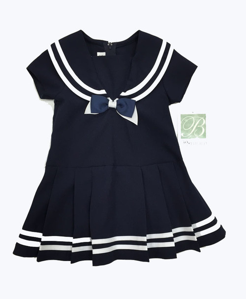 Navy White Sailor Dress