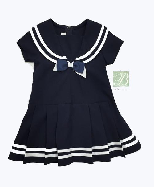 Navy White Sailor Dress