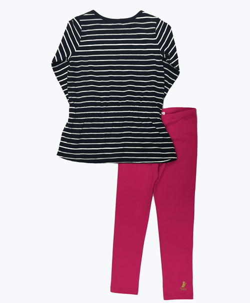 NWT Gymboree Navy Blue with side Stripe Leggings Kids Girls Outlet