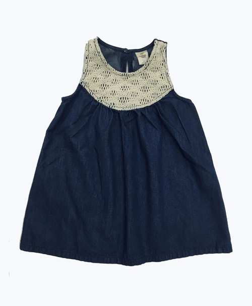 Chambray Tank Top, Little Girls