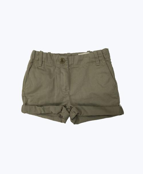 Cuffed Khaki Shorts, Toddler Girls