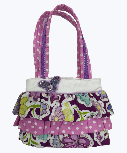 SOLD - Butterfly Ruffle Tote