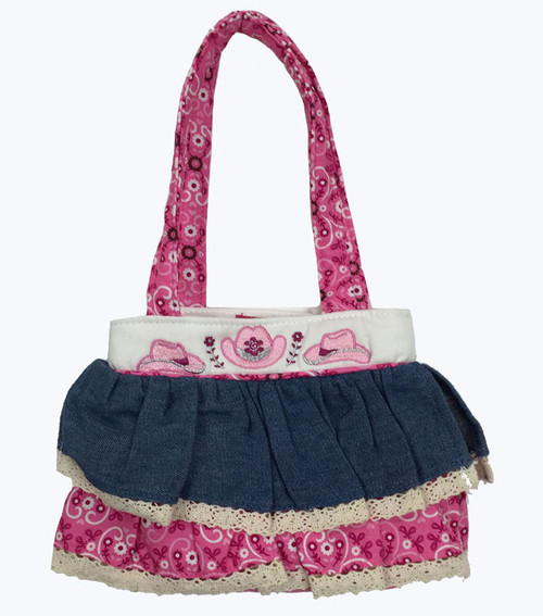 SOLD - Cowgirl Ruffle Tote