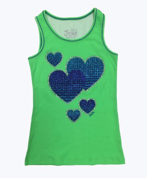 Glitter Hearts Tank Top, Little Girls