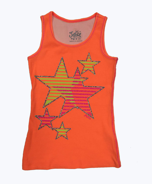 Glitter Stars Tank Top, Big Girls