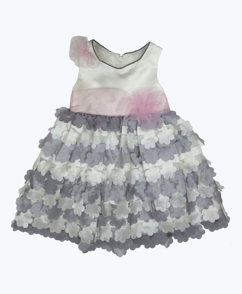 SOLD - Satin Flowers Dress