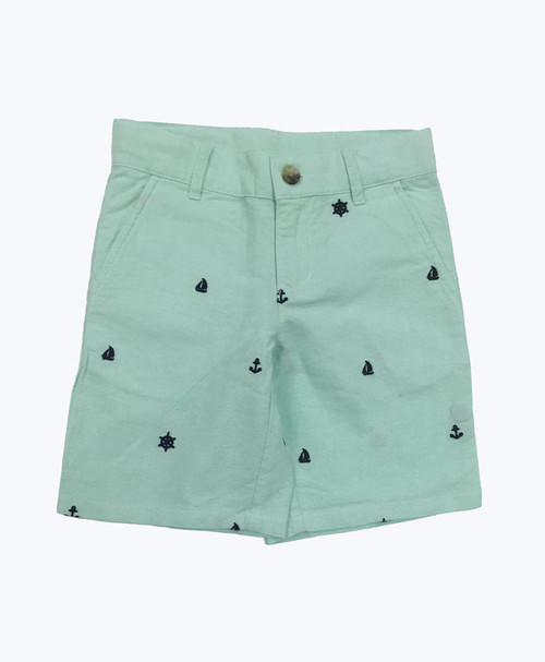 Embroidered Nautical Shorts, Toddler Boys