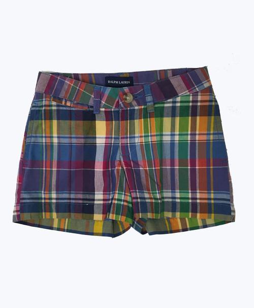 Multi-Color Plaid Shorts, Little Girls
