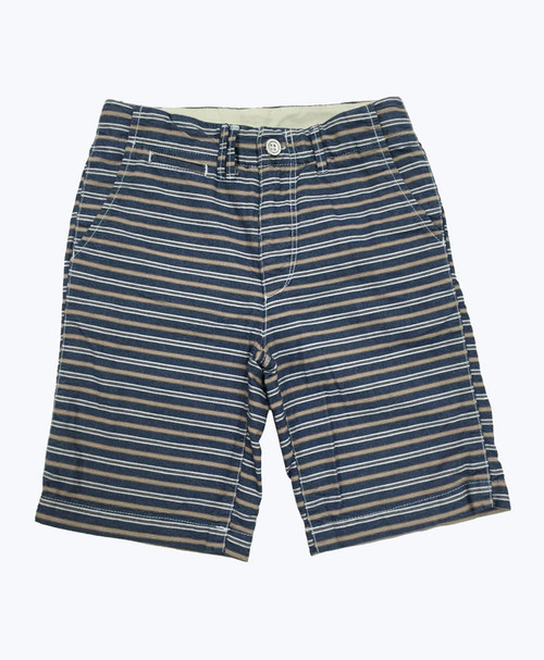 Blue & Brown Stripes Shorts, Little Boys