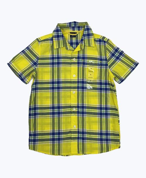Blue & Yellow Plaid Shirt, Little Boys