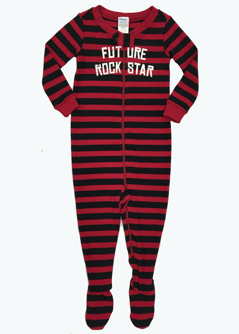 Black & Red Footed One-Piece, Baby Boys