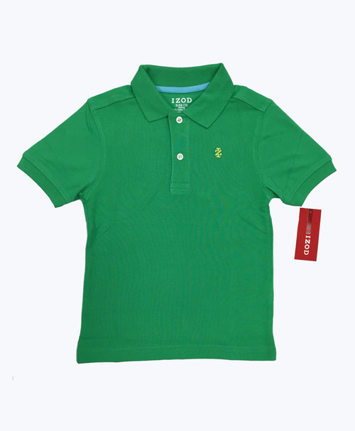 Green Pique Polo, Little Boys