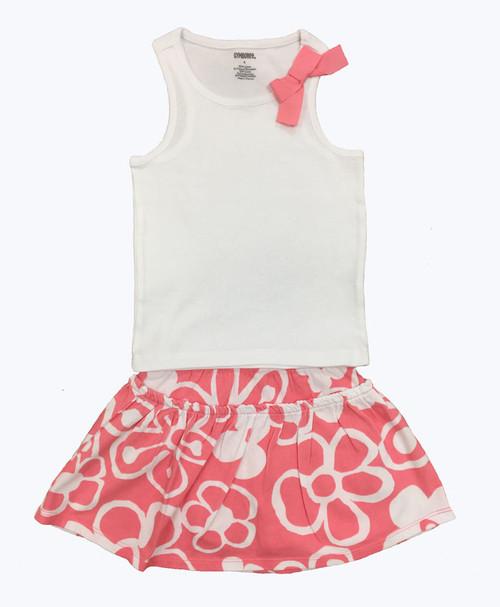 White & Peach Outfit