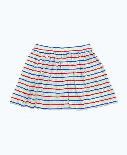 Red White and Blue Stripes Skirt