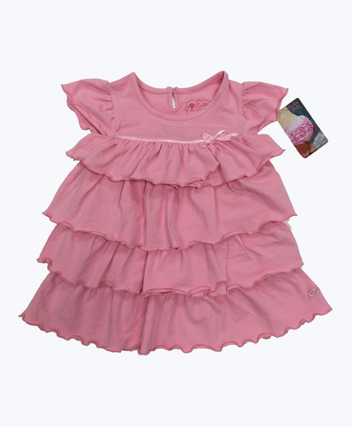 SOLD - Pink Tiered Ruffle Dress