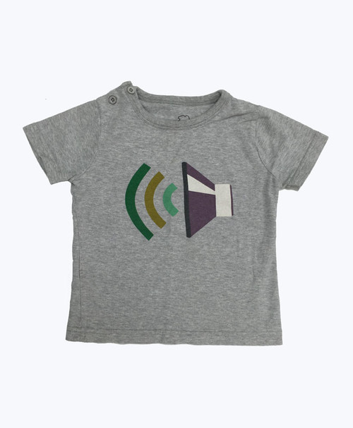 Gray Graphic Tee, Baby Boys