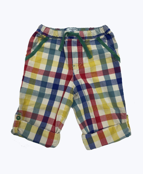 Gingham Roll-Up Pants, Baby Boys