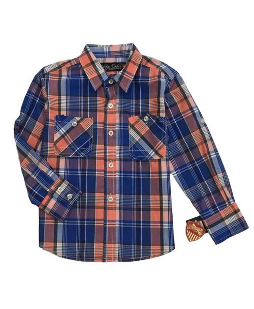 Victoria Blue Button Up Shirt, Toddler Boys