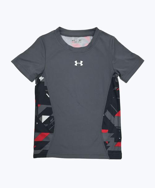 Gray UA Tee Shirt, Toddler Boys