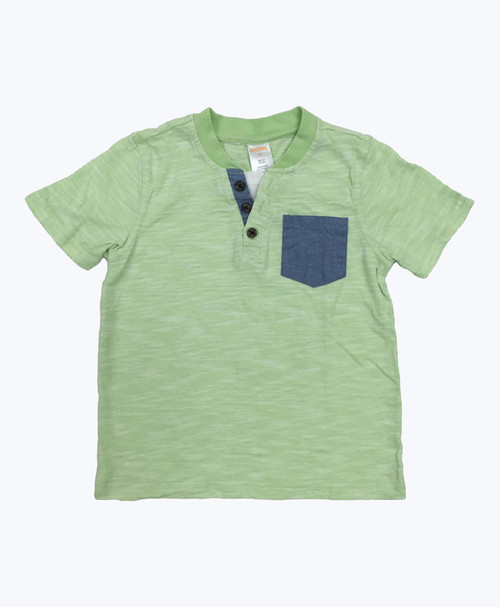 Green Sherbet Pocket Tee, Toddler Boys