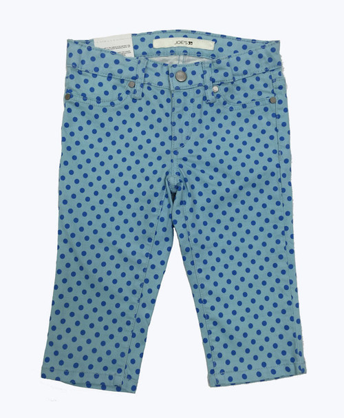 Blue Polka Dots Capris, Little Girls