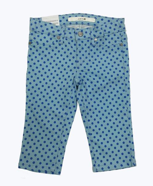 Blue Polka Dots Capris, Little Girls