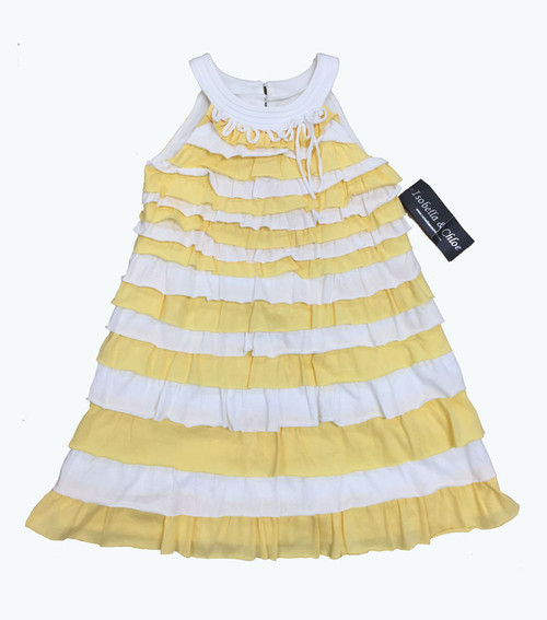 SOLD - Yellow & White Ruffle Dress