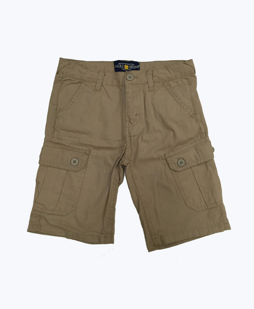 Toddler Boys Light Brown Cargo Shorts