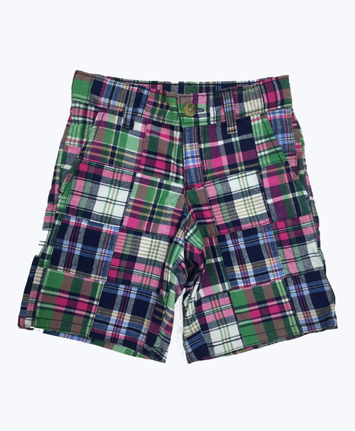 Multi-Color Patchwork Shorts