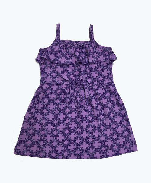 Purple Ruffle Organic Dress, Baby Girls