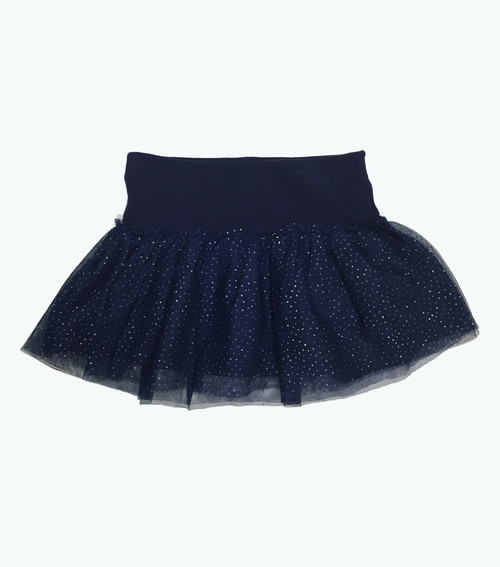 SOLD - Spakle Navy Tulle Skort