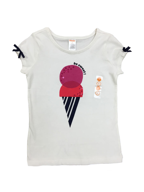 Be Sweet Graphic Tee Shirt, Little Girls