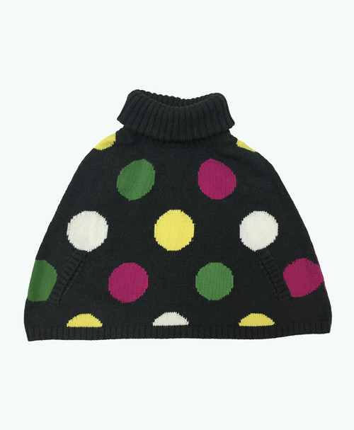 Polka Dots Poncho Sweater, Toddler Girls